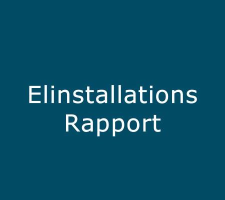 elinstallationsrapport